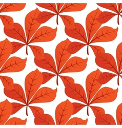 Colorful autumn leaf background seamless pattern vector
