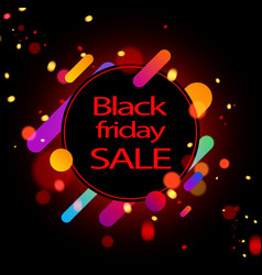 colorful black friday sale background vector image vector image