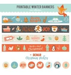 Cute Horizontal Banners vector image