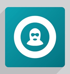 Flat offender icon vector