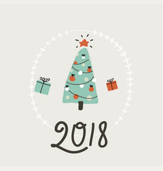 happy new year card simple vector image vector image