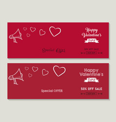 Happy valentines day sale social media covers set vector