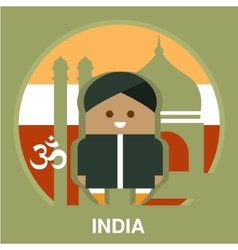 India resident on national background vector