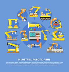 Industrial robotic arms composition vector