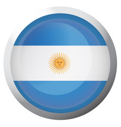 Isolated flag of argentina vector