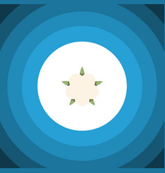 Isolated flower flat icon bud element can vector