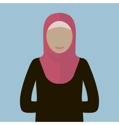 Muslim woman icon vector