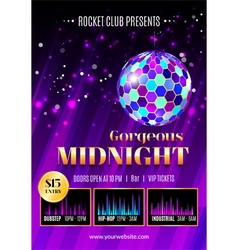 Night club flyer template vector