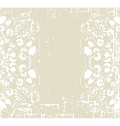 ornament floral background vector image vector image