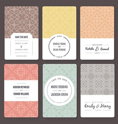 Save The Date Templates vector image vector image