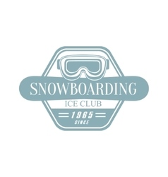 Snowboarding Ice Club Emblem Design vector image vector image