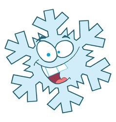 Snowflake Character vector image vector image