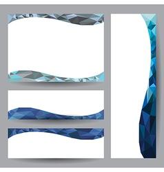 Template card blue element design vector image