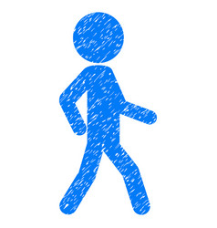 Walking child grunge icon vector