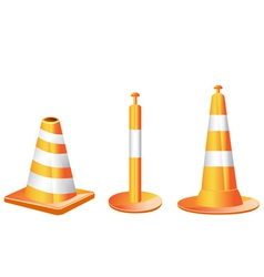 Different type of traffic cones vector
