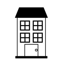 building exterior front isolated icon vector image