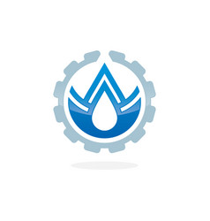 plumbing service concept with water drop vector image