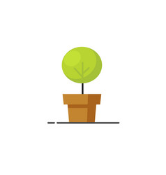 Houseplant icon flat cartoon green plant vector