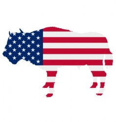 Buffalo in stars and stripes vector