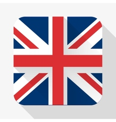 Simple flat icon great britain flag vector