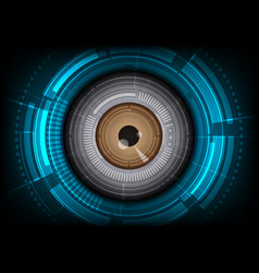 Eyeball with hitech background vector