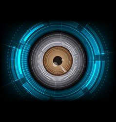 eyeball with hitech background vector image