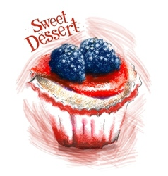 Sweet dessert logo design template cake vector