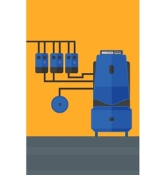 Background of domestic household boiler room vector