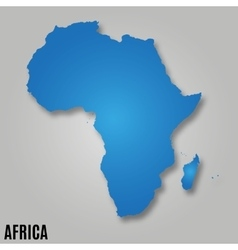Africa continent map vector image vector image