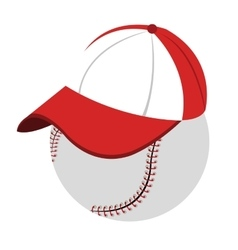 baseball with cap side view graphic vector image vector image