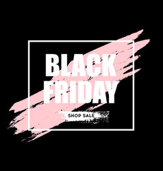 black friday sale horizontal banner vector image