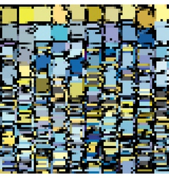 Blue yellow abstract pixel backdrop vector