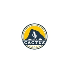 Cactus logo isolated on white background vector image