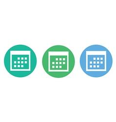 Calendar icon flat design style vector