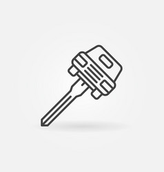 Car key concept icon vector