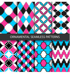 Colorful ornamental patterns - seamless vector