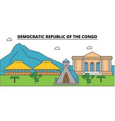 democratic republic of the congo outline city vector image vector image