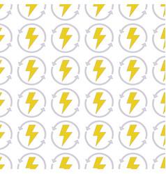 Energy hazard symbol with arrows around background vector
