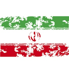 Flag of iran with old texture vector