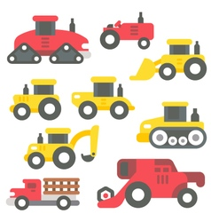 Flat design farm items set vector image