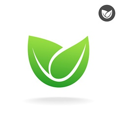 Green leaf icon Eco symbol vector image vector image
