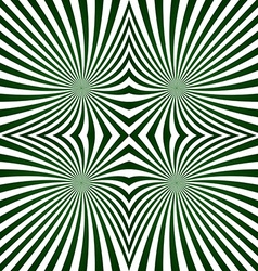 Green striped symmetric ray pattern vector