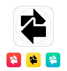 Interchange icon vector