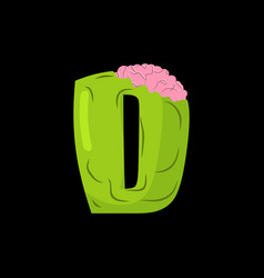 letter d zombie font monster alphabet bones and vector image vector image