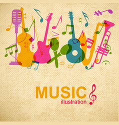 Musical graphic poster vector