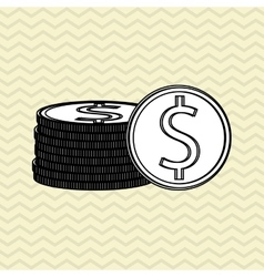 Profit and money design vector image