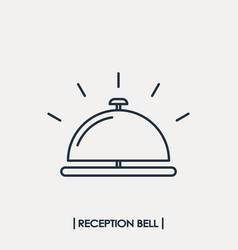 Reception bell outline icon vector