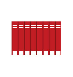 red encyclopedia books learning vector image