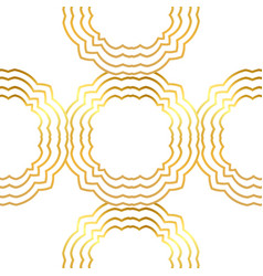 Seamless gold pattern with gold ornament vector