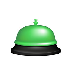 service bell in black and green design vector image vector image